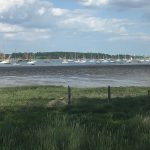 Sailing boats on the River Orwell