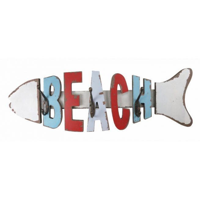 Beach Coat hooks fish shaped