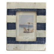 Blue and white stripe photo frame