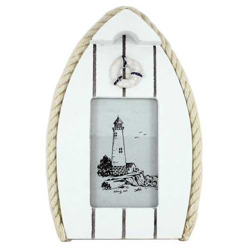 Boat Photo Frame with Lifebuoy