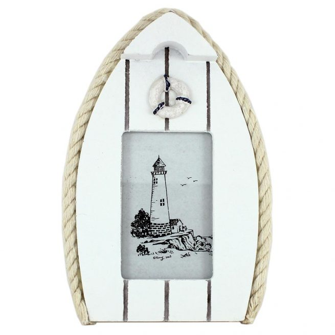 Boat Photo Frame with Lifebuoy