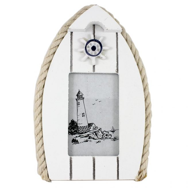 Boat Photo Frame with Steering Wheel