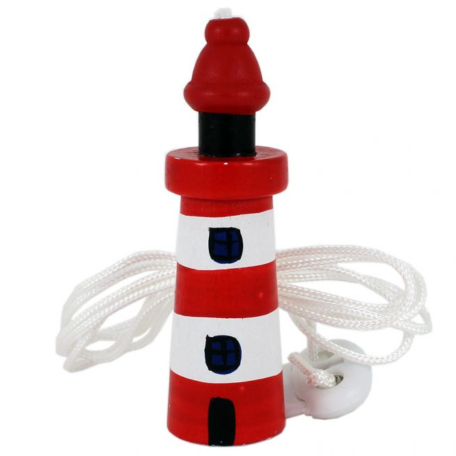 red white lighthouse light cord