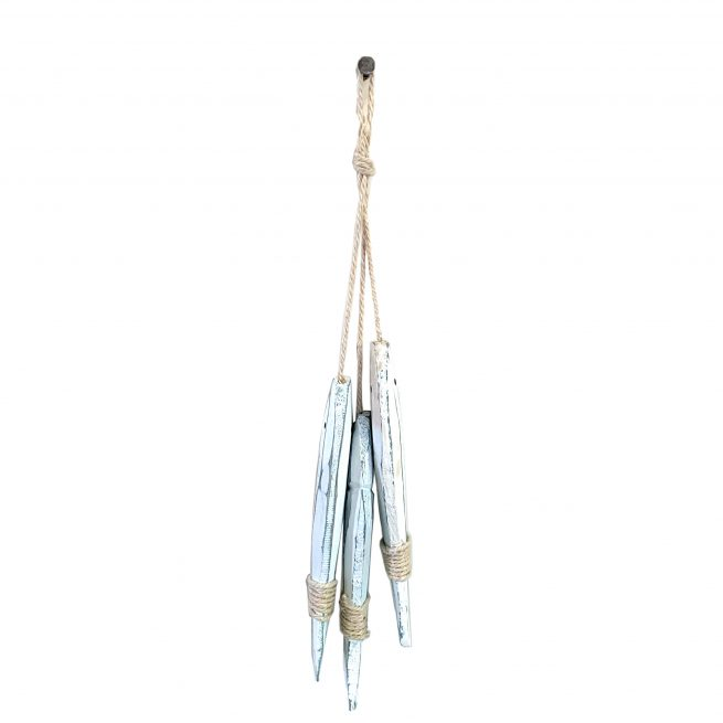 3 decorative hanging fish