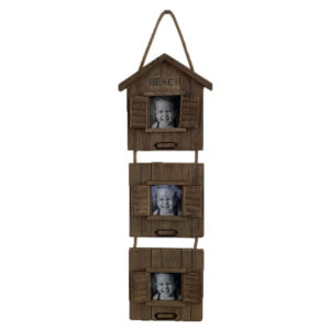 6902 Rustic 3 Panel Wooden Photo Frame
