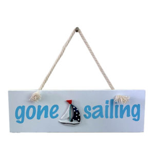 Wooden Gone Sailing sign