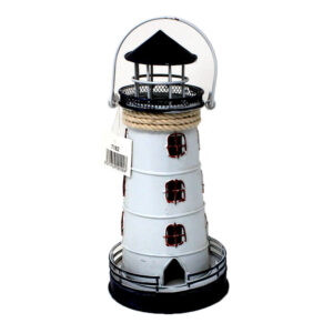 7182 Metal Lighthouse Tealight Holder
