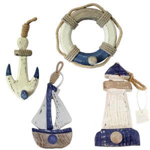Four Nautical Hooks / Pegs