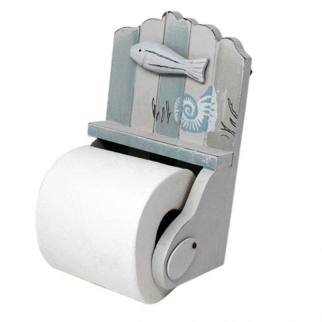 55957 Nautical Toilet Roll Holder Side