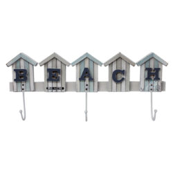 Beach Hut Coat Towel Hooks