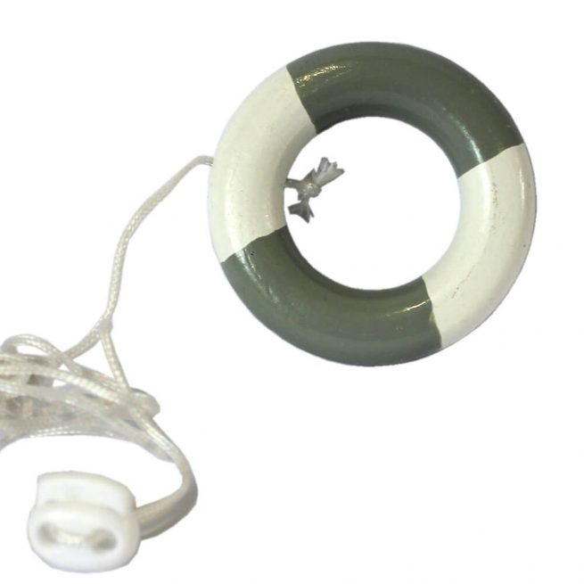 Grey and White Life Ring Light Pull
