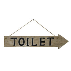 6393 Wooden Toilet Sign