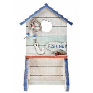Nautical Wooden Toilet Roll Holder