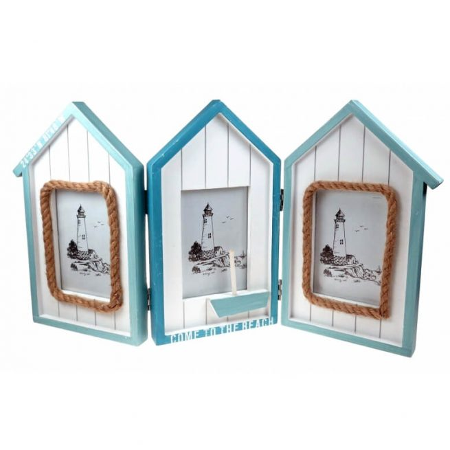 Come to the beach hut photo frame