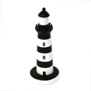 15122 Black White Wooden Lighthouse