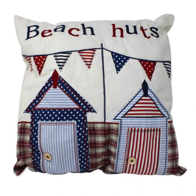6502L Beach Huts Cushion Back