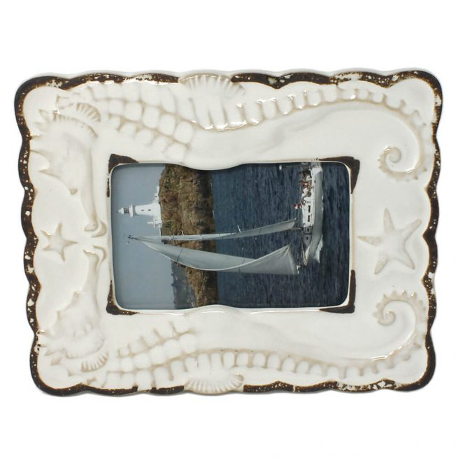 Ceramic Seahorse Photo Frame Landscape