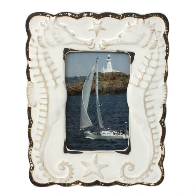 Ceramic Seahorse Photo Frame Portrait
