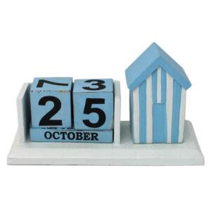 Wooden Block Beach Hut Calendar