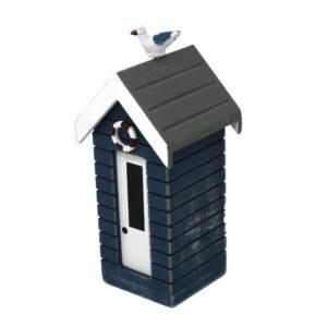 7376r Small Blue Money Box Beach Huts