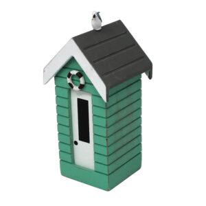 7376r Small Green Money Box Beach Huts
