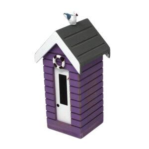 7376r Small Purple Money Box Beach Huts