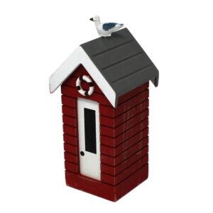 7376r Small Red Money Box Beach Huts