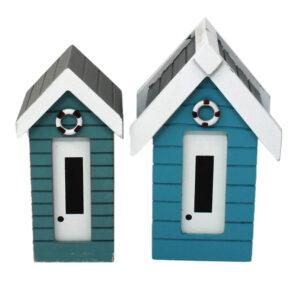 Small vs Large Money Box Beach Huts