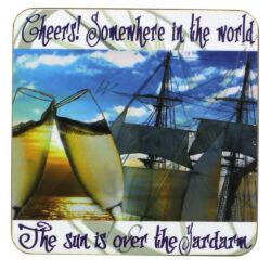 3391 Cheers Sun Over the Yardarm Drinks Coaster