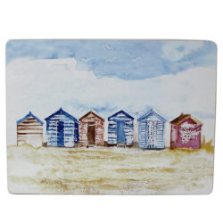 53034 beach huts coastal placemat