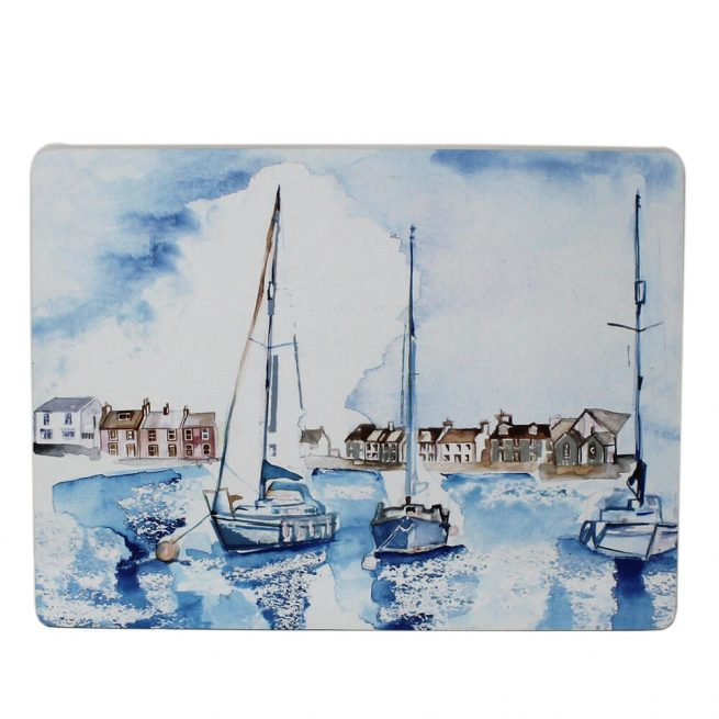 53034 coastal placemat boats