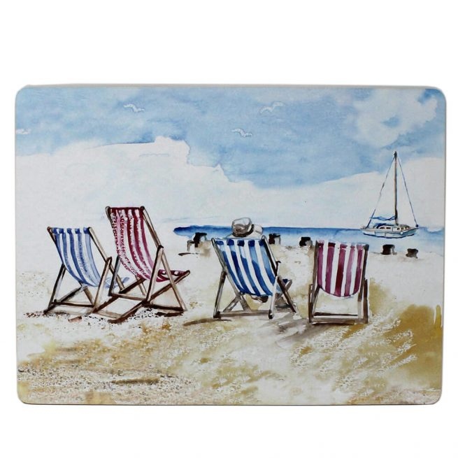 53034 coastal placemat deckchairs