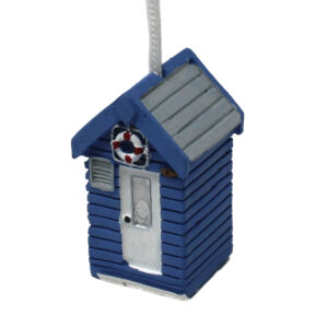 7692 Blue Grey Beach Hut Light Pull