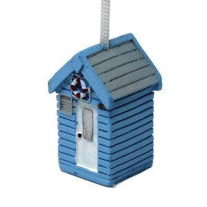 7692 Light Blue Beach Hut Light Pull