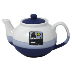 78649 Nautical Blue White Tea Pot