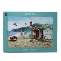 Sandy Bay Beach Scene Place Mats
