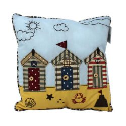 6547 Small Beach Hut Nautical Cushion