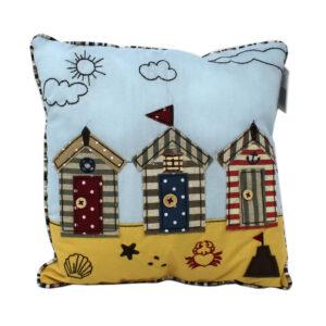 6547 Small Beach Hut Nautical Cushion