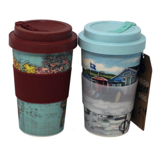 Bamboo Travel Tea Coffee Mugs