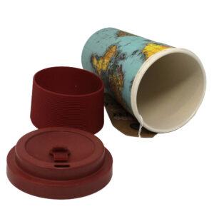World Traveller Bamboo Travel Mug Inside