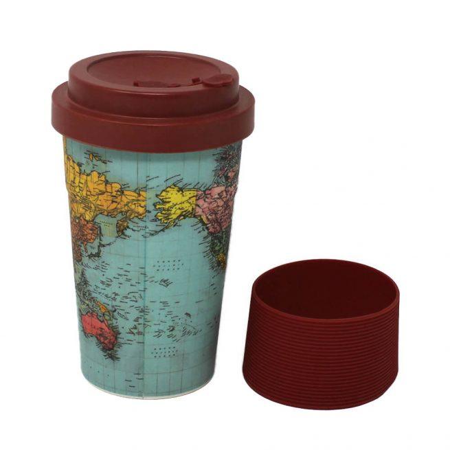 World Traveller Bamboo Travel Mug