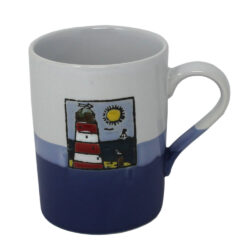 78067 Hanah Blue White Lighthouse Mug