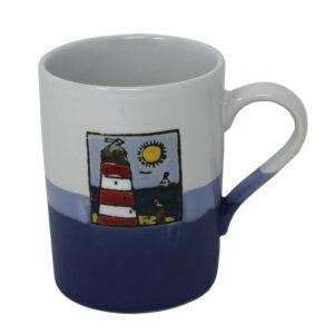 78067 Hanah Blue White Lighthouse Mug