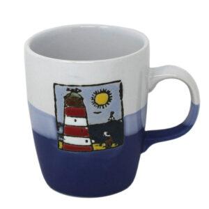 78669 Hanah Small Red Lighthouse Mug