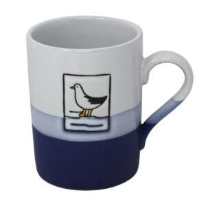 Hanah 78064 Blue and White Seagull Mug 450ml