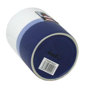 Hanah 78067 Blue and White Lighthouse Mug 450ml Base