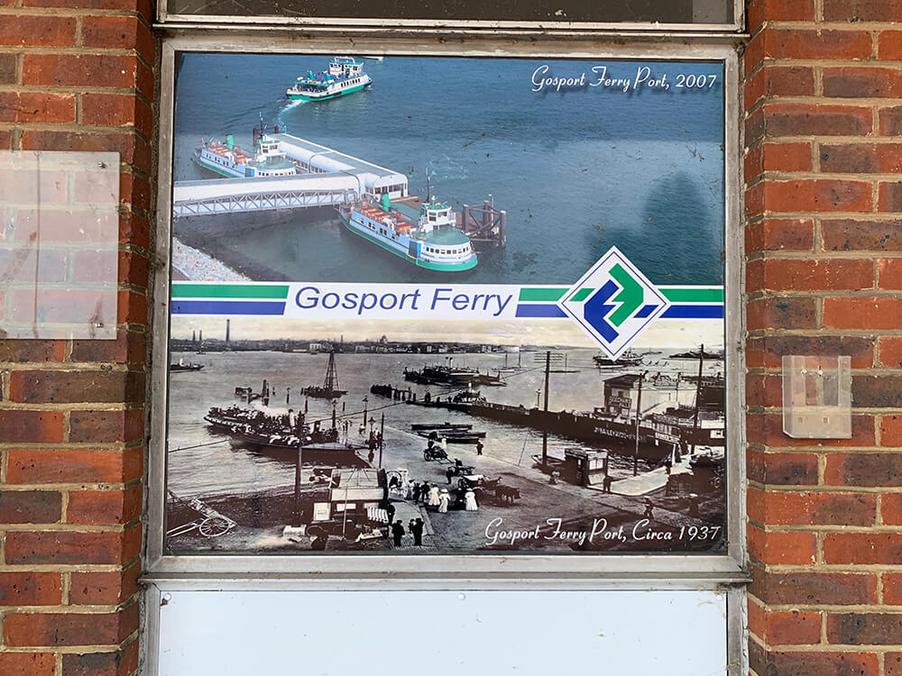 Gosport Ferry Sign