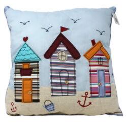 6506 Large Beach Hut Nautical Cushion